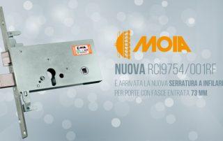 Serratura a infilare per porte con fascia RCI9754/001RF | MOIA