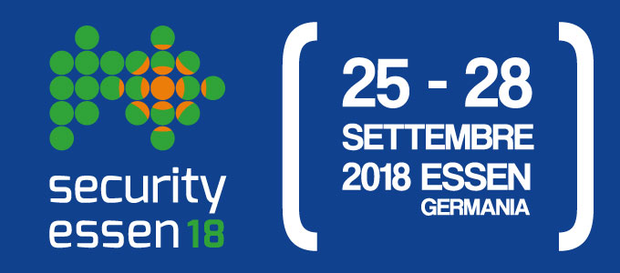 Security Essen 2018 - dal 25 al 28 settembre